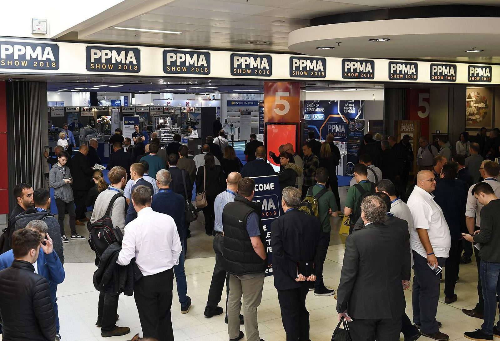PPMA 2018 packaging trade show, Birmingham.